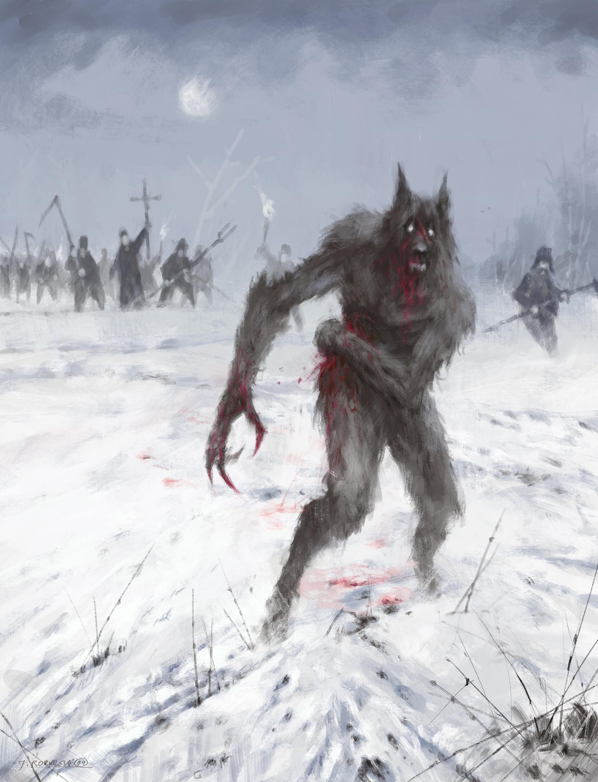 Jakub rozalski wounded wolf s