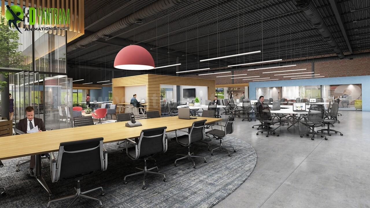 Artstation Modern Large Office Interior Exterior Design Ideas By Architectural Studio Dublin Ireland Yantram Architectural Design Studio