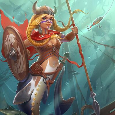 Alexandra gaudibuendia khitrova mermaid viking2