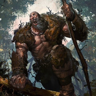 Greg rutkowski howling giant 1500