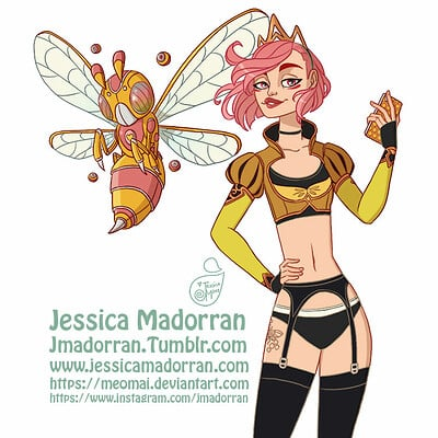 Jessica madorran character design redesign queen bee and kiki 2019 artstation01