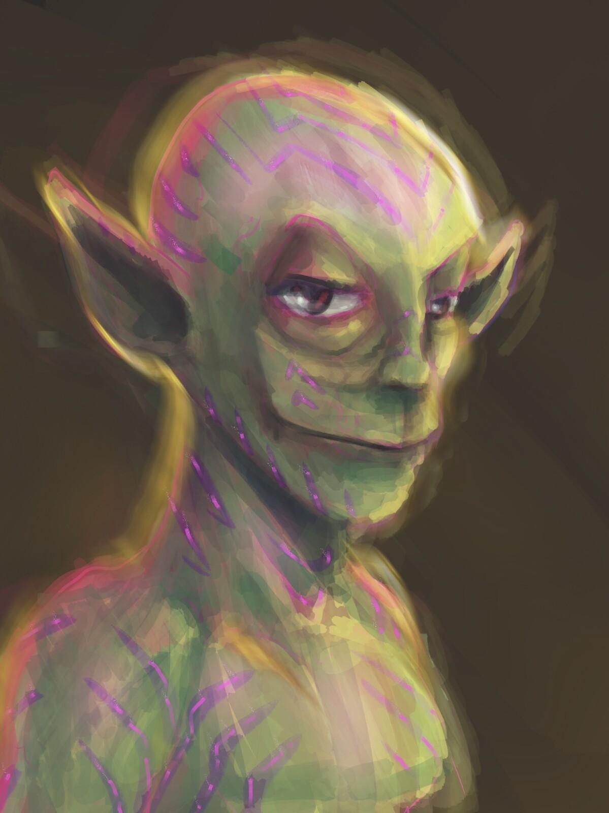 Quick sketch of an elf