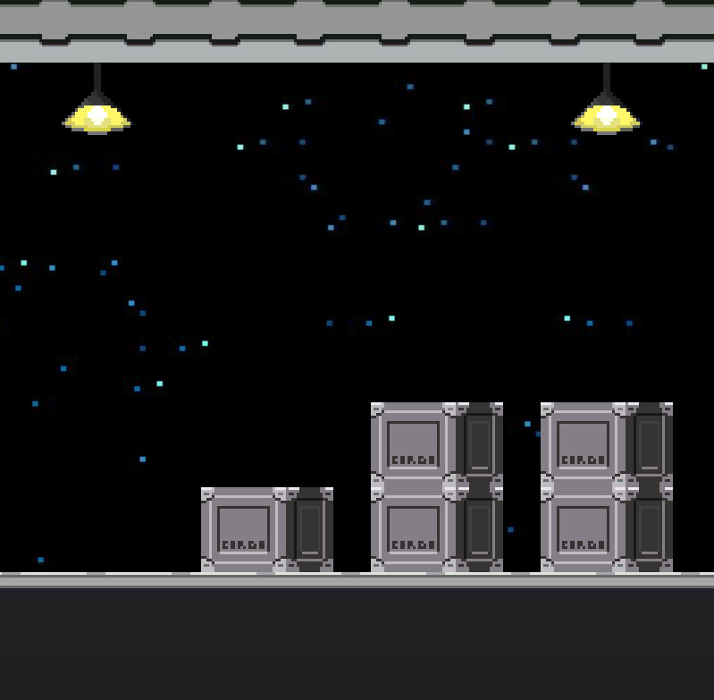 Cargo Boxes in the game scene running in unity.