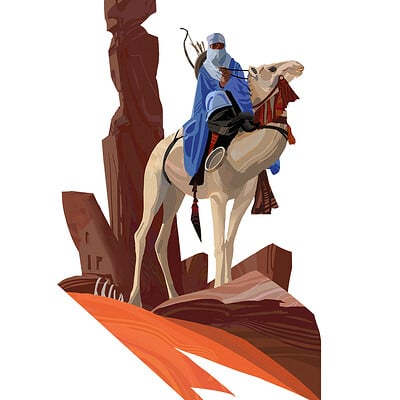 Hugo puzzuoli camel rider 01 small puzzuoli
