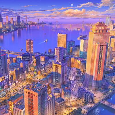 Arseniy chebynkin modern metropolis twilight