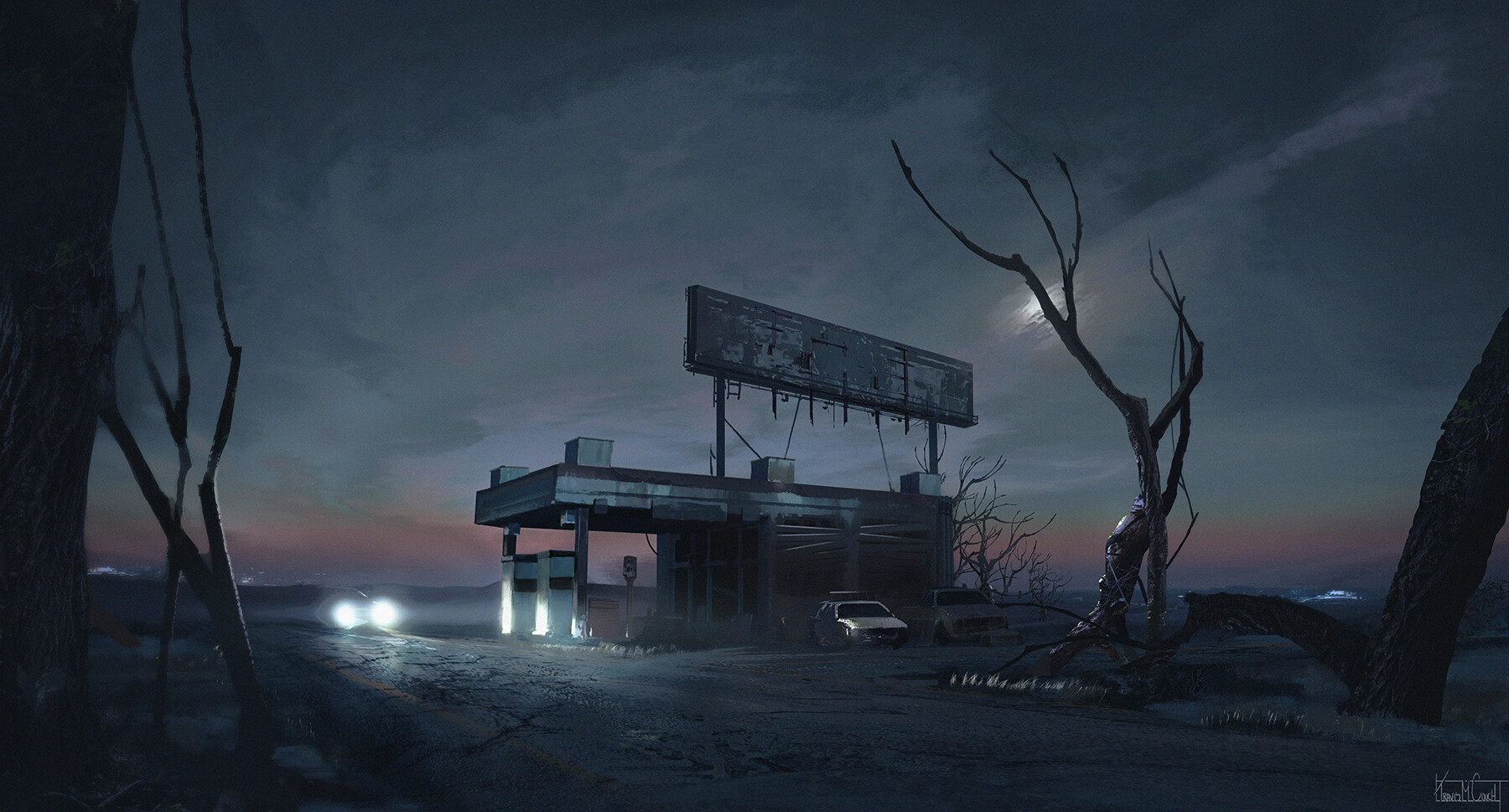 Artstation Old Gas Station Travis M Couch