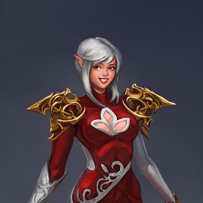 Elf in Red