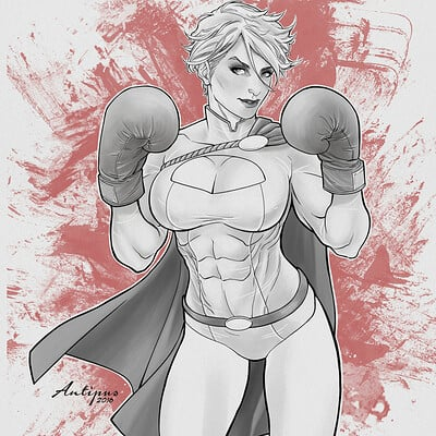Antiono antipus power girl boxing 2