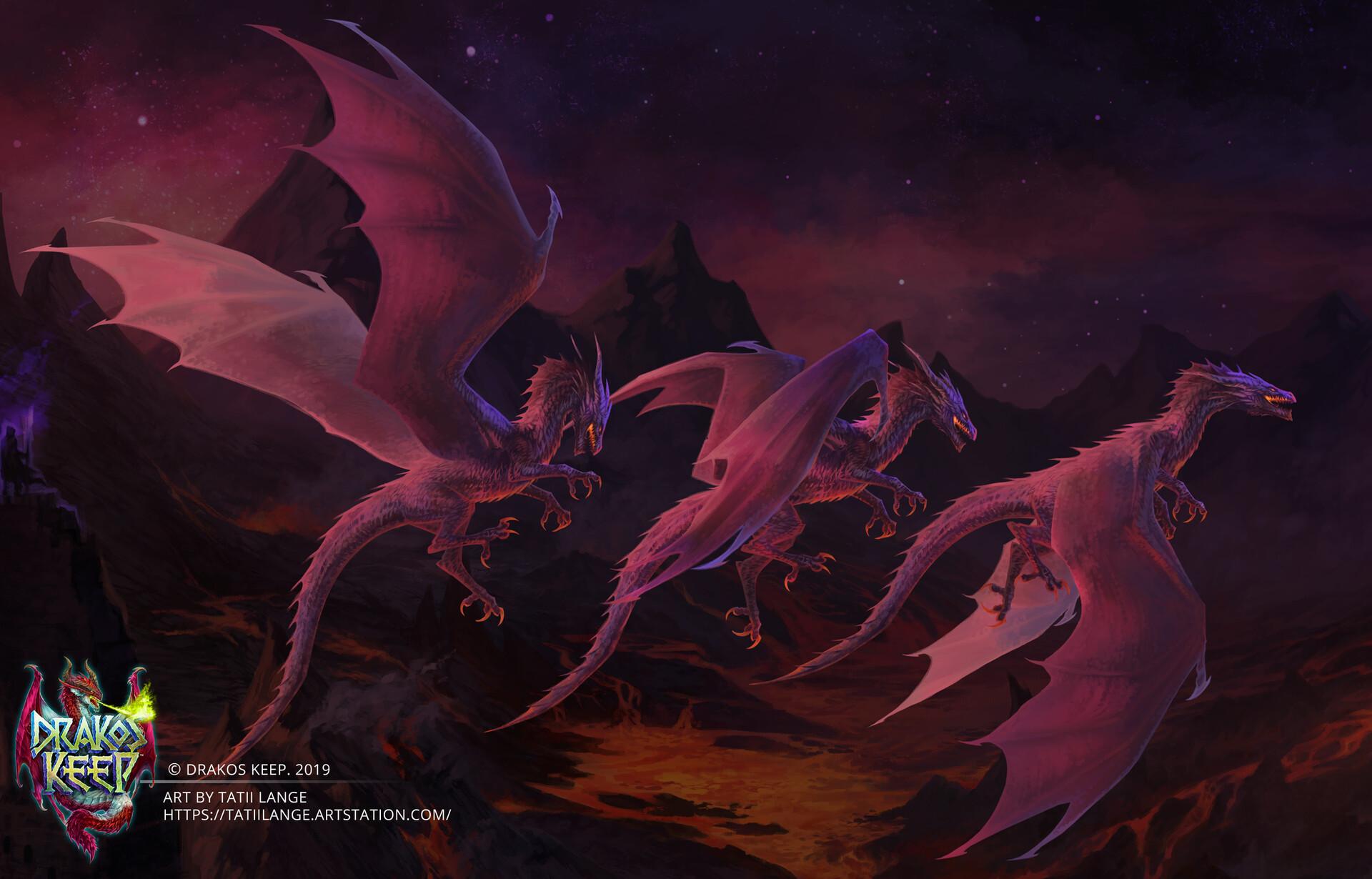 Tatii lange website splash art dragon