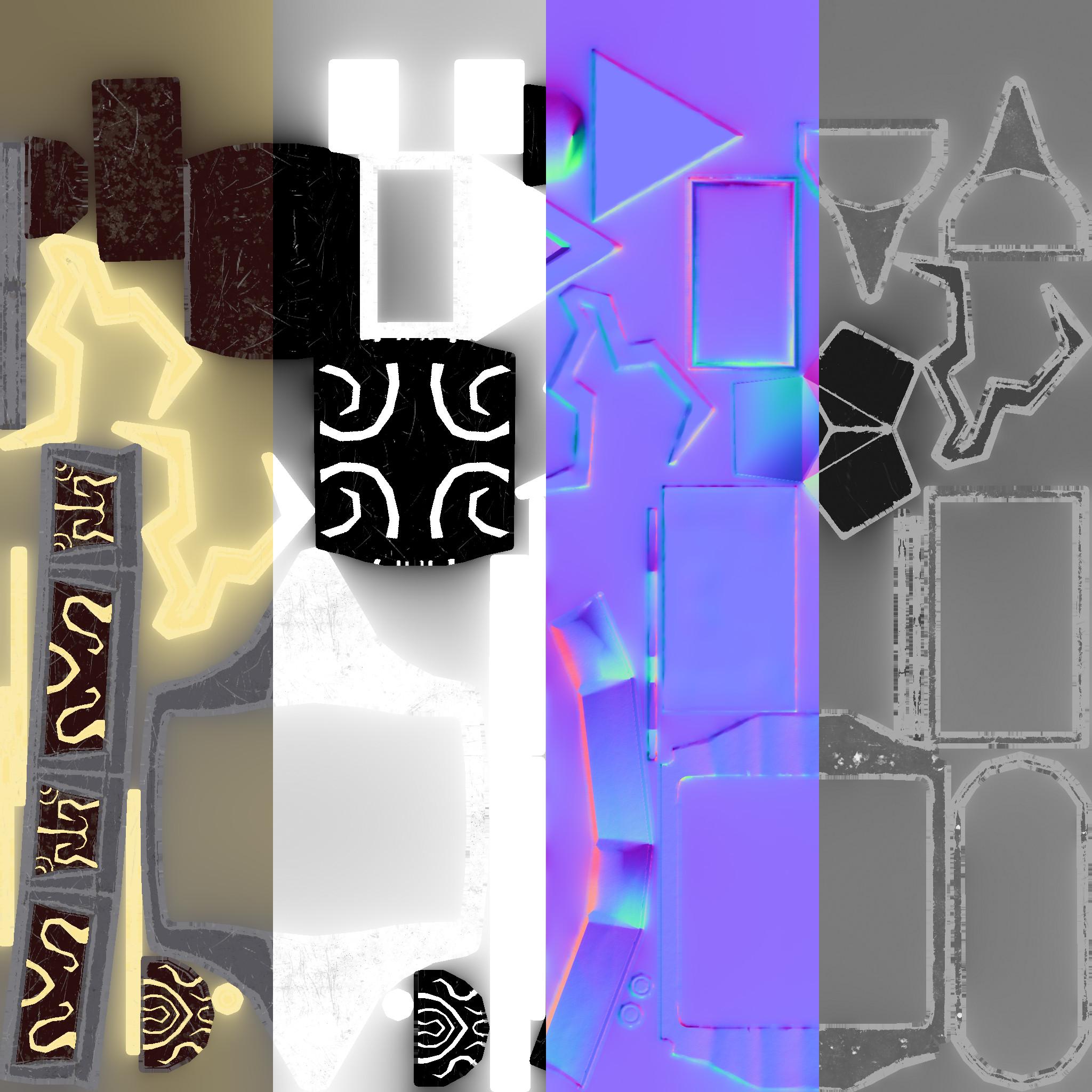 Albedo / Metallic / Normal / Roughness