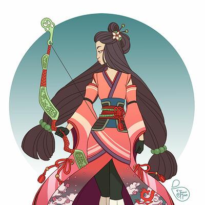 Jessica madorran character design redesign mulan warrior 2019 artstation01