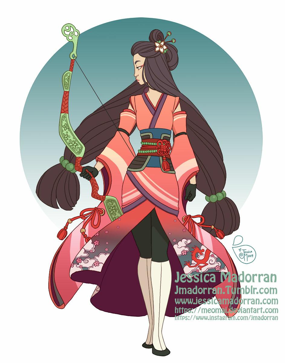 Character Design Redesign - Warrior Princess Mulan