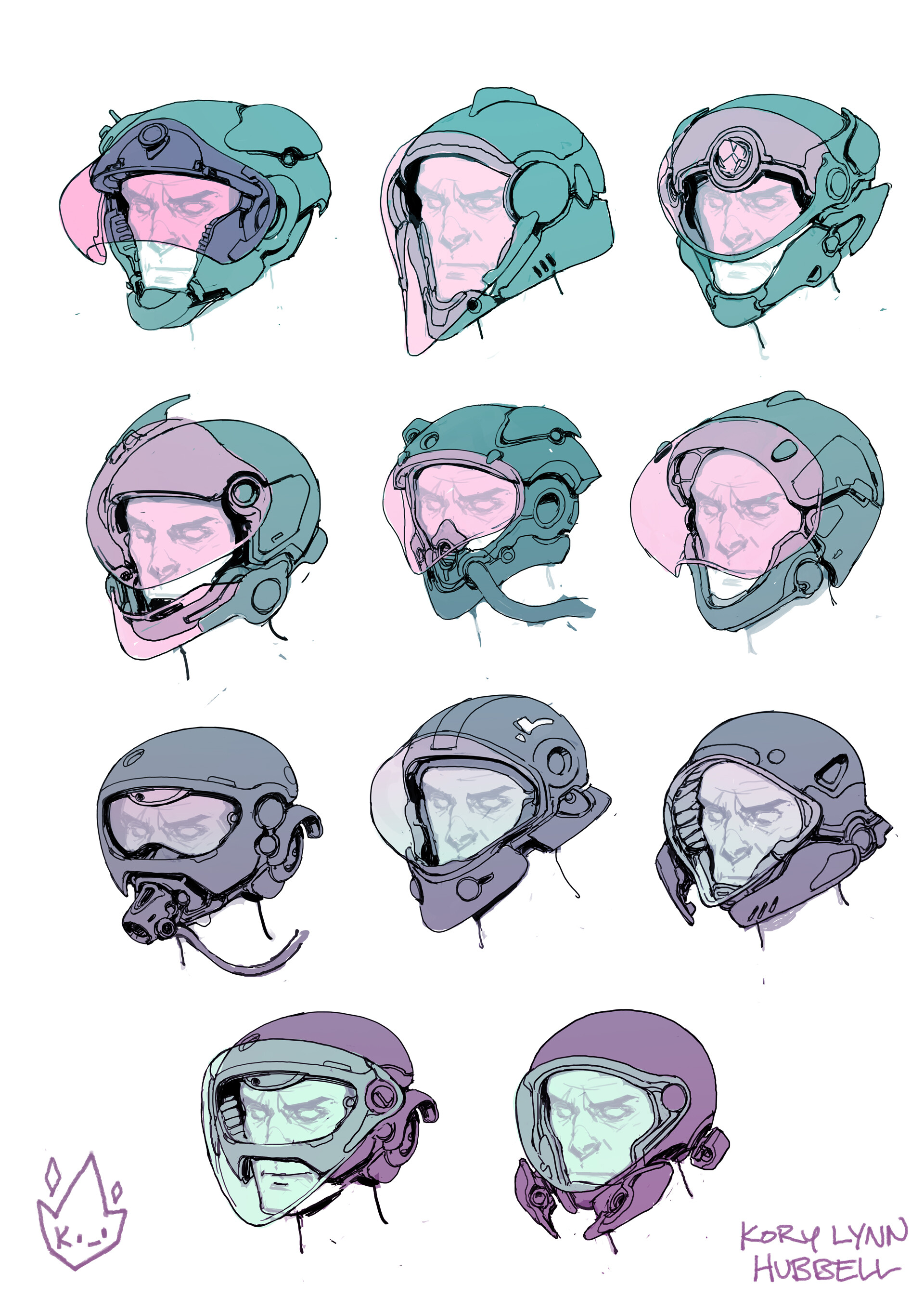 Kory lynn hubbell helmets color