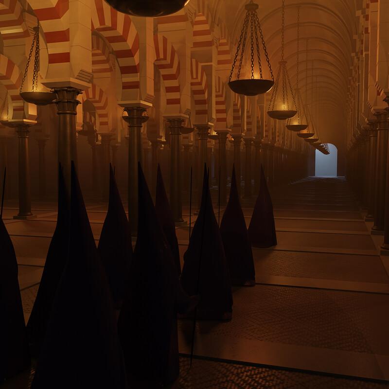 Mezquita de Cordoba Blender Scene