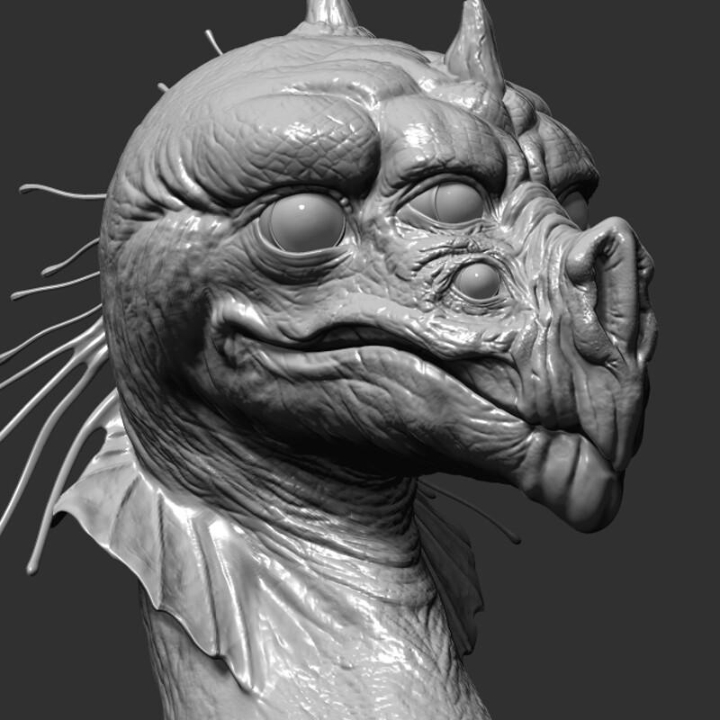 Dragon Bust: Greyscale
