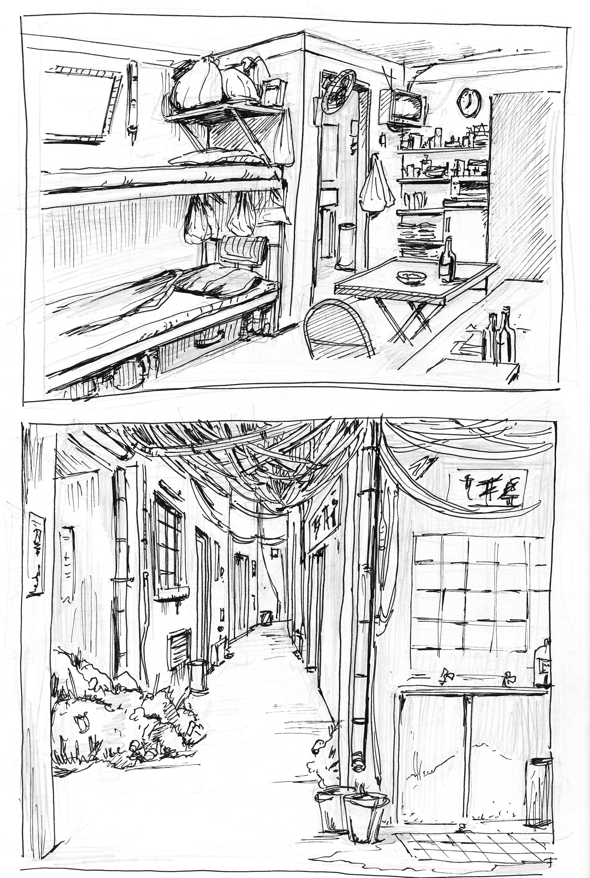 preliminary sketches for the environment