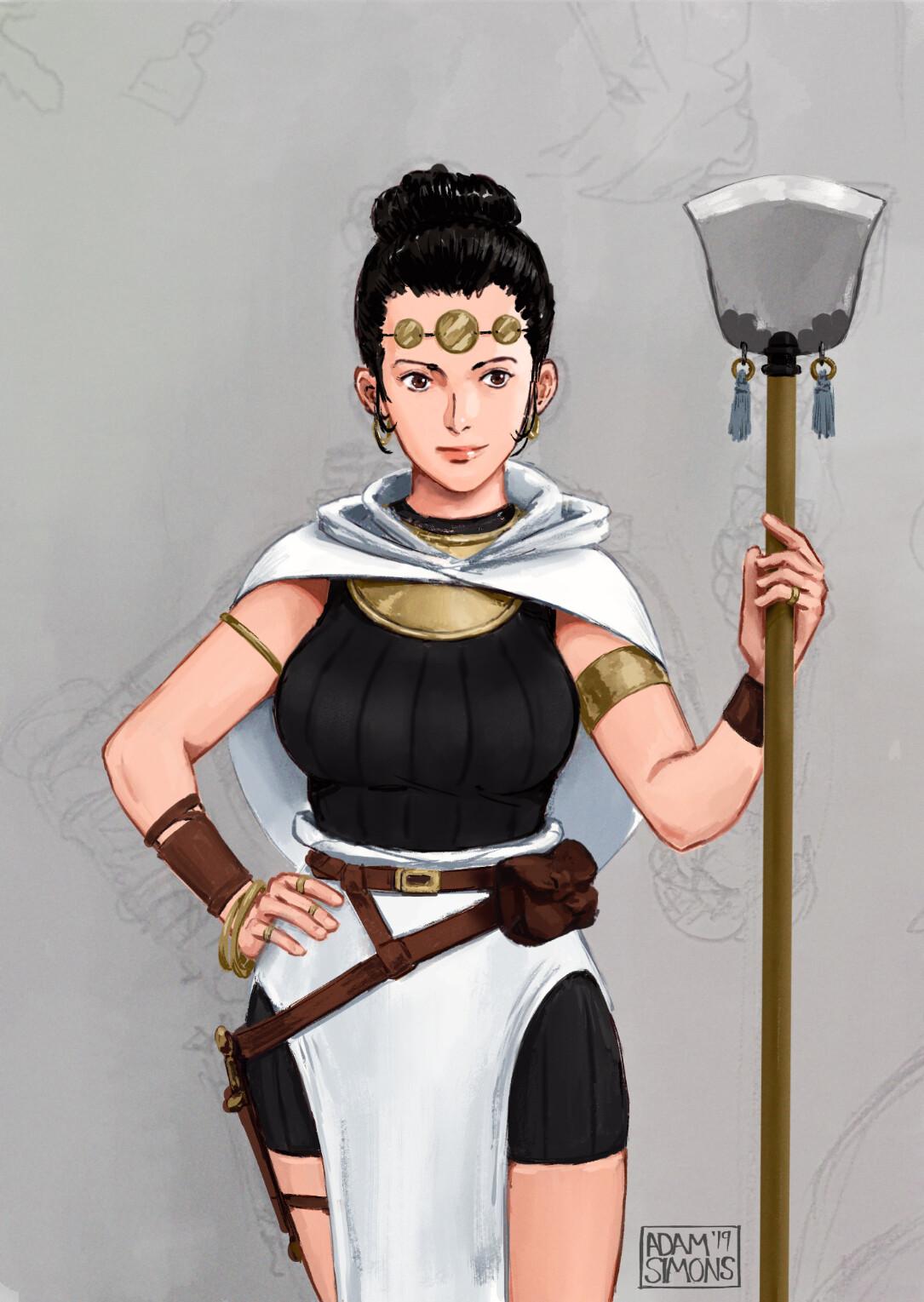 Hybrid fantasy White mage
