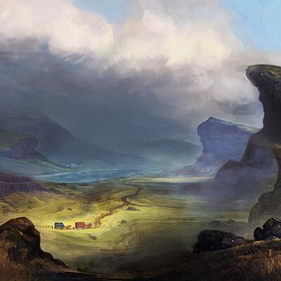 Tom p mackintosh landscape sketch