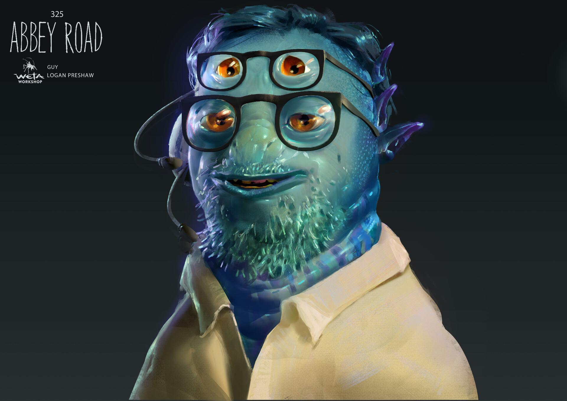 Alien Guy - Artist: Logan Preshaw