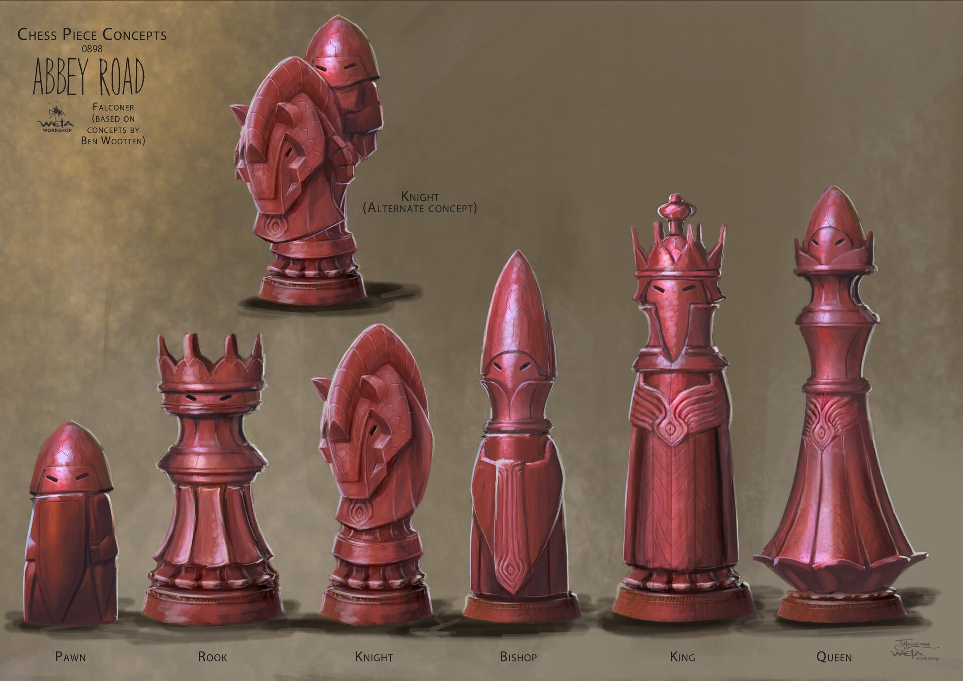 Weta workshop design studio 0898 chessset wet df02