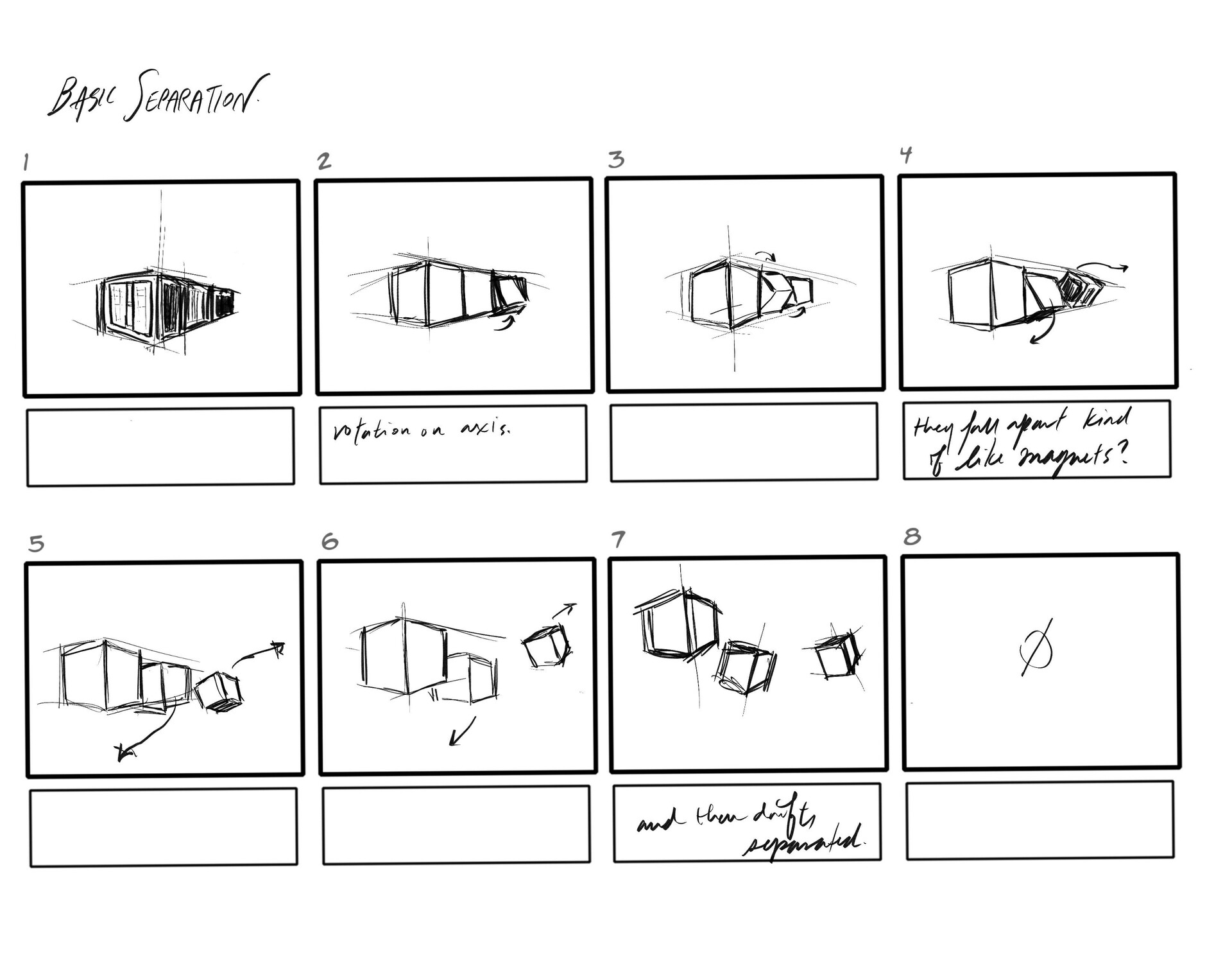 The storyboard I was given to animate with. (3/3)