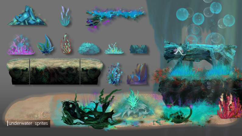 Underwater Level elements