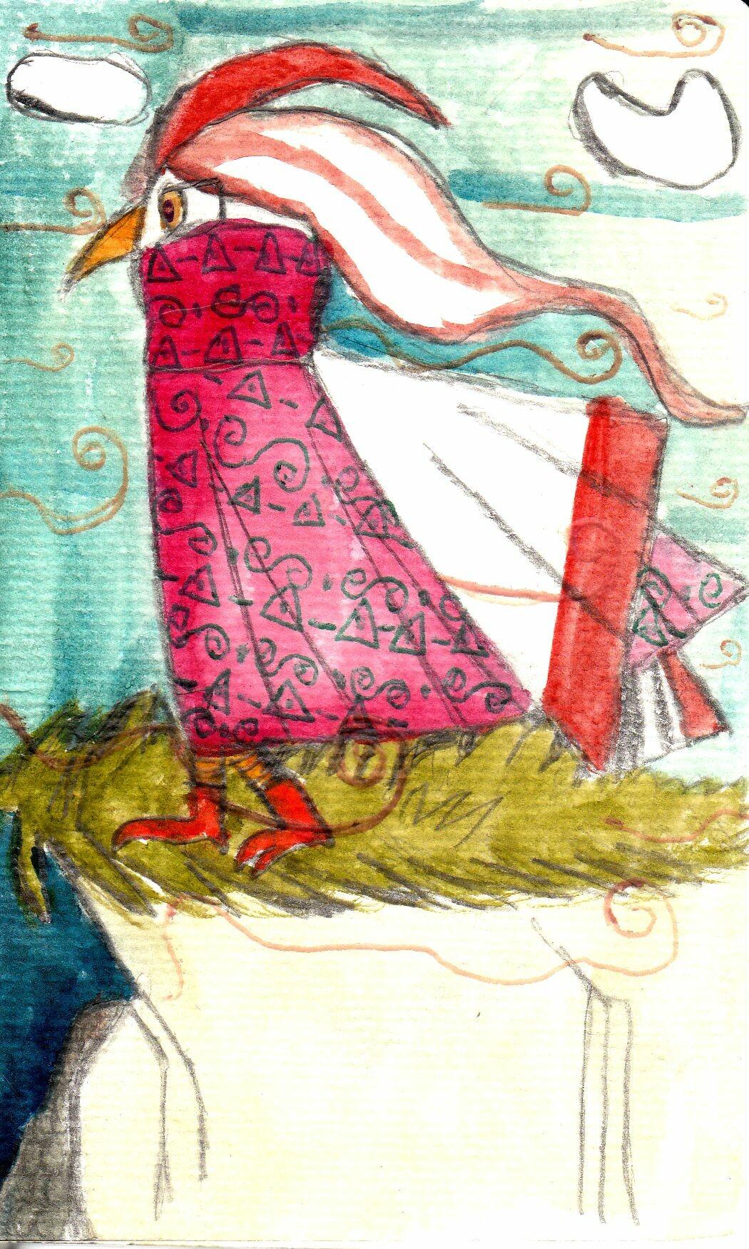 Anei ragdowl cd falaise personnage oiseau au vent