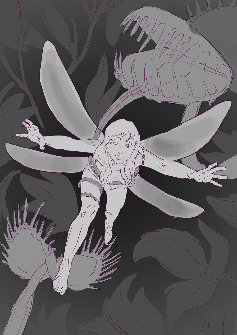 Margarita bourkova 201907 fairy sketch