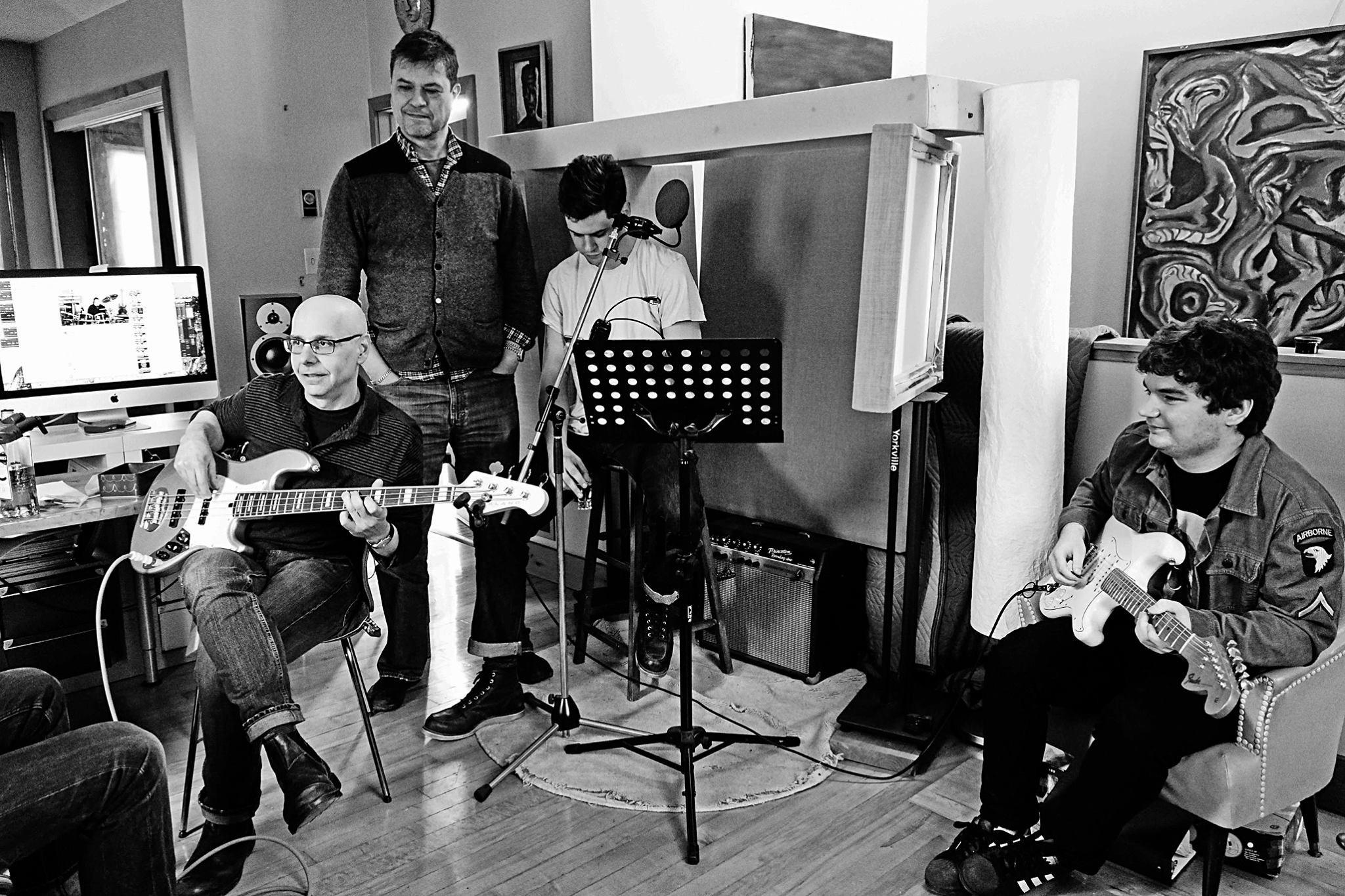 Jamming at Nick Vittacco's music studio, in Toronto.