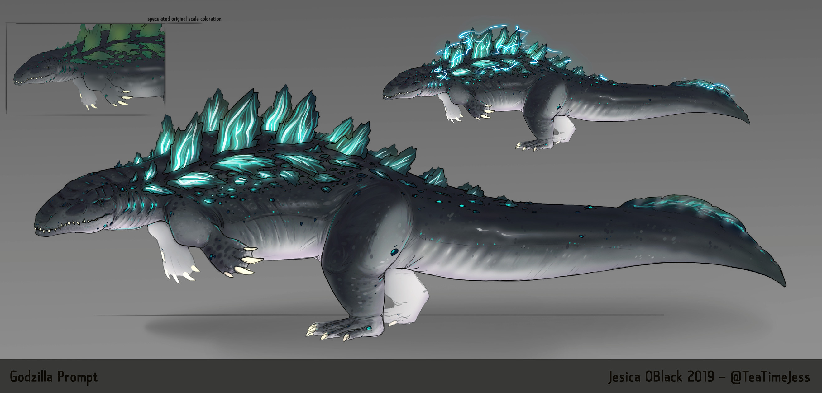 Godzilla Redesign for RJ Palmer's contest! I took the 'sea creature' approach.