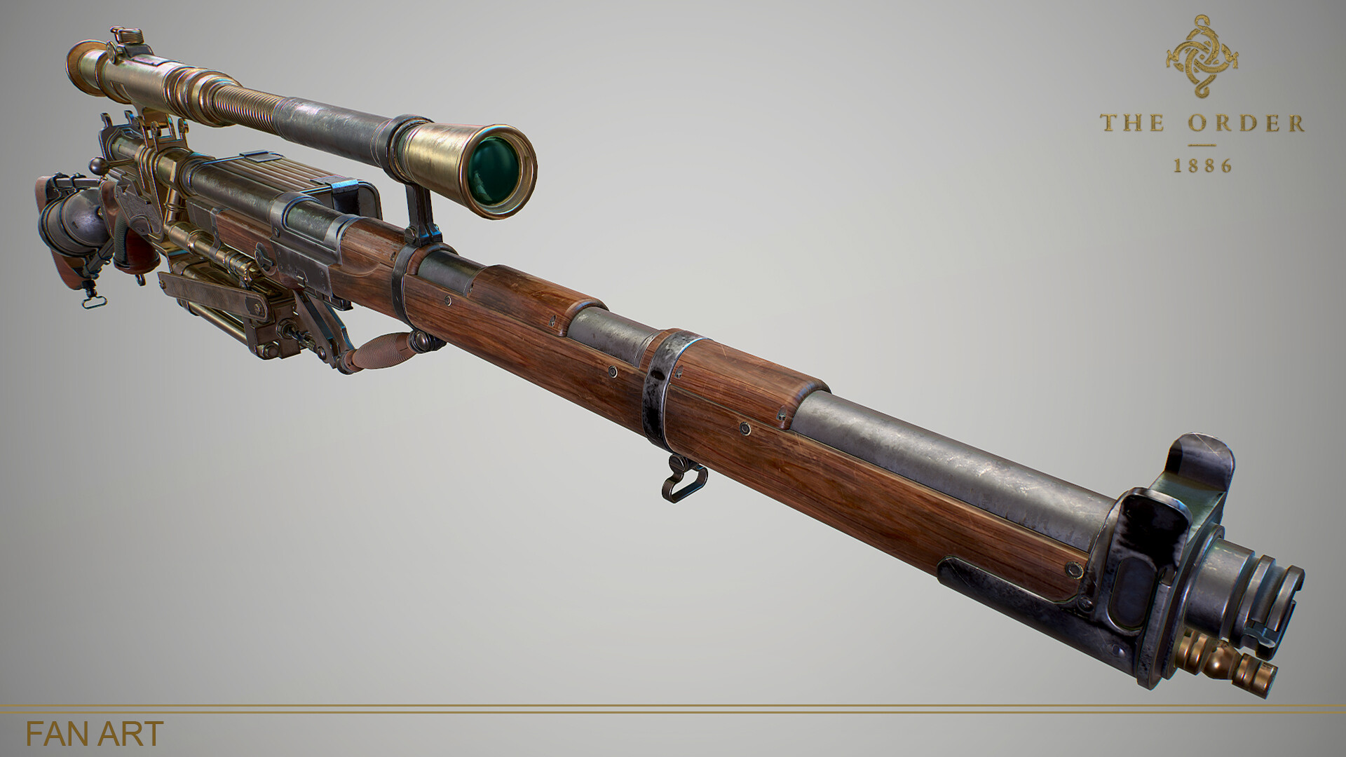 ArtStation - The Order 1886 : Pneumatic Rifle (FanArt