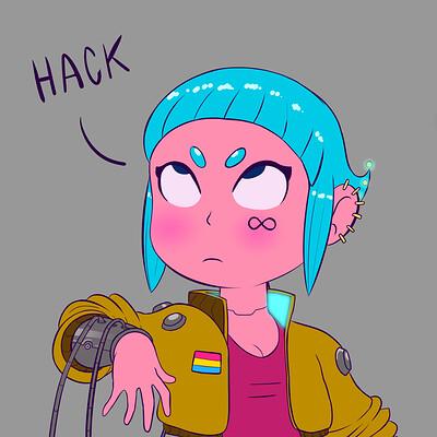 Lucas fowl garota cyberpunk 3