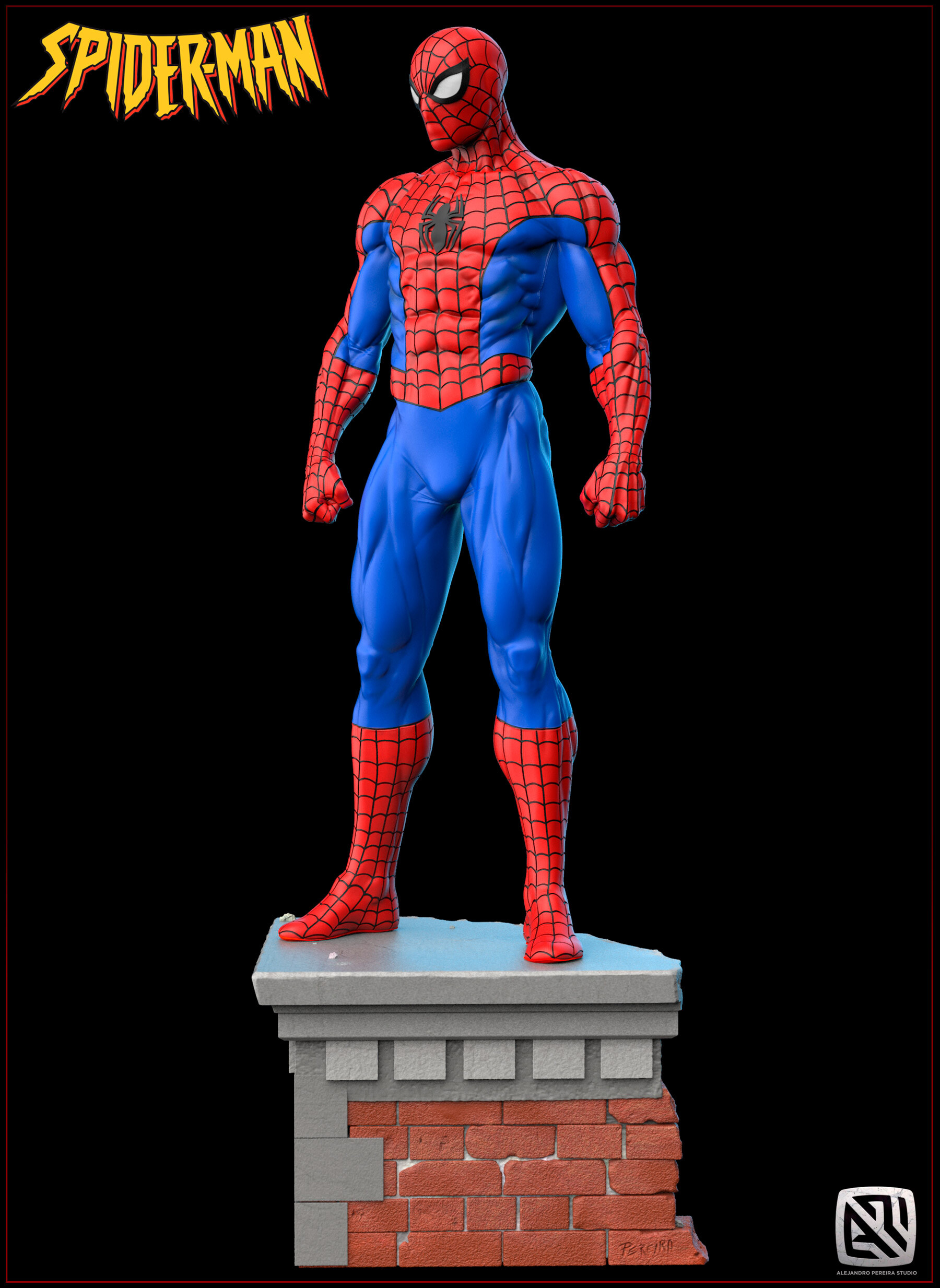 Alejandro pereira spidey render color 02