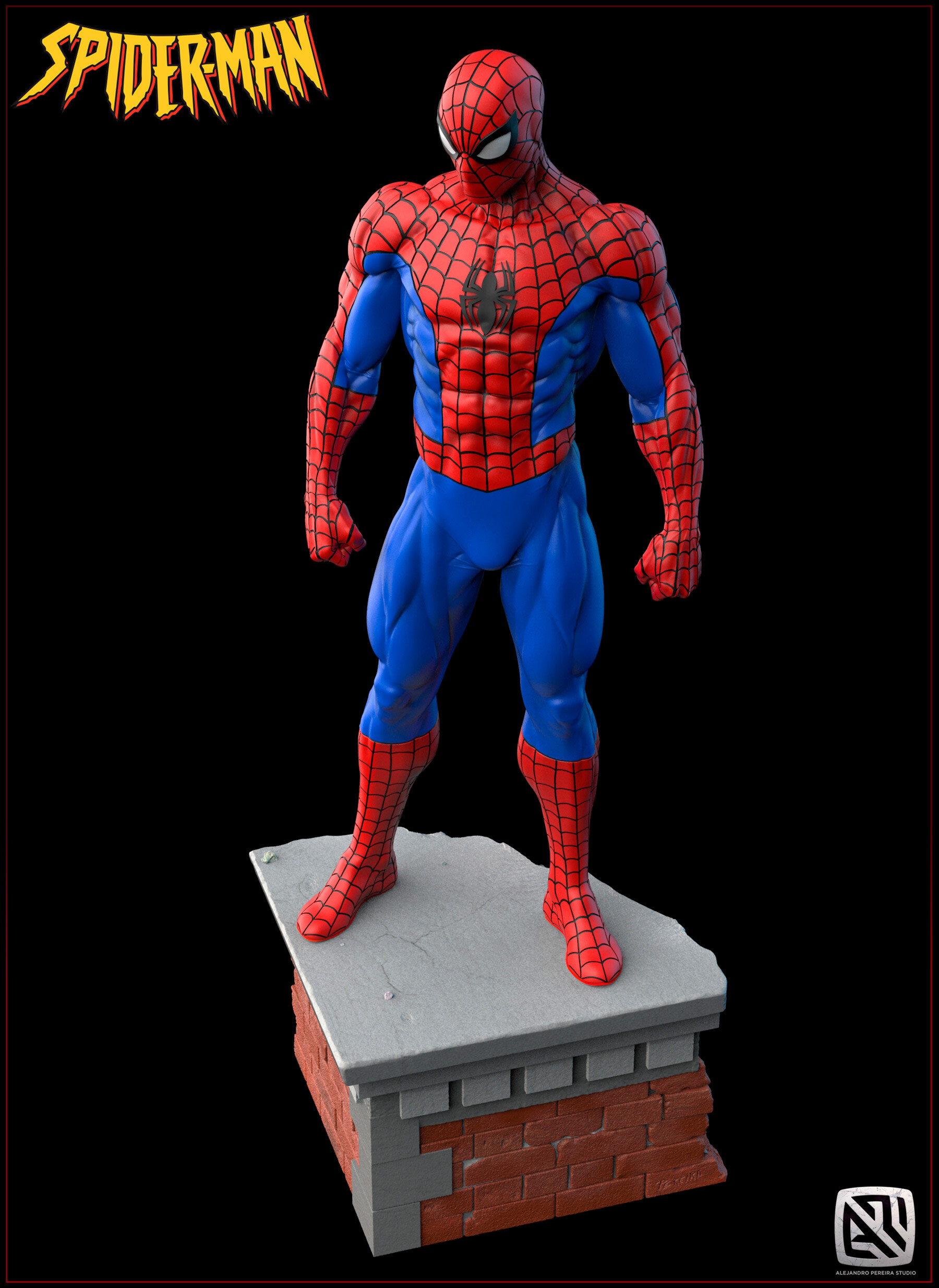 Alejandro pereira spidey render color 07