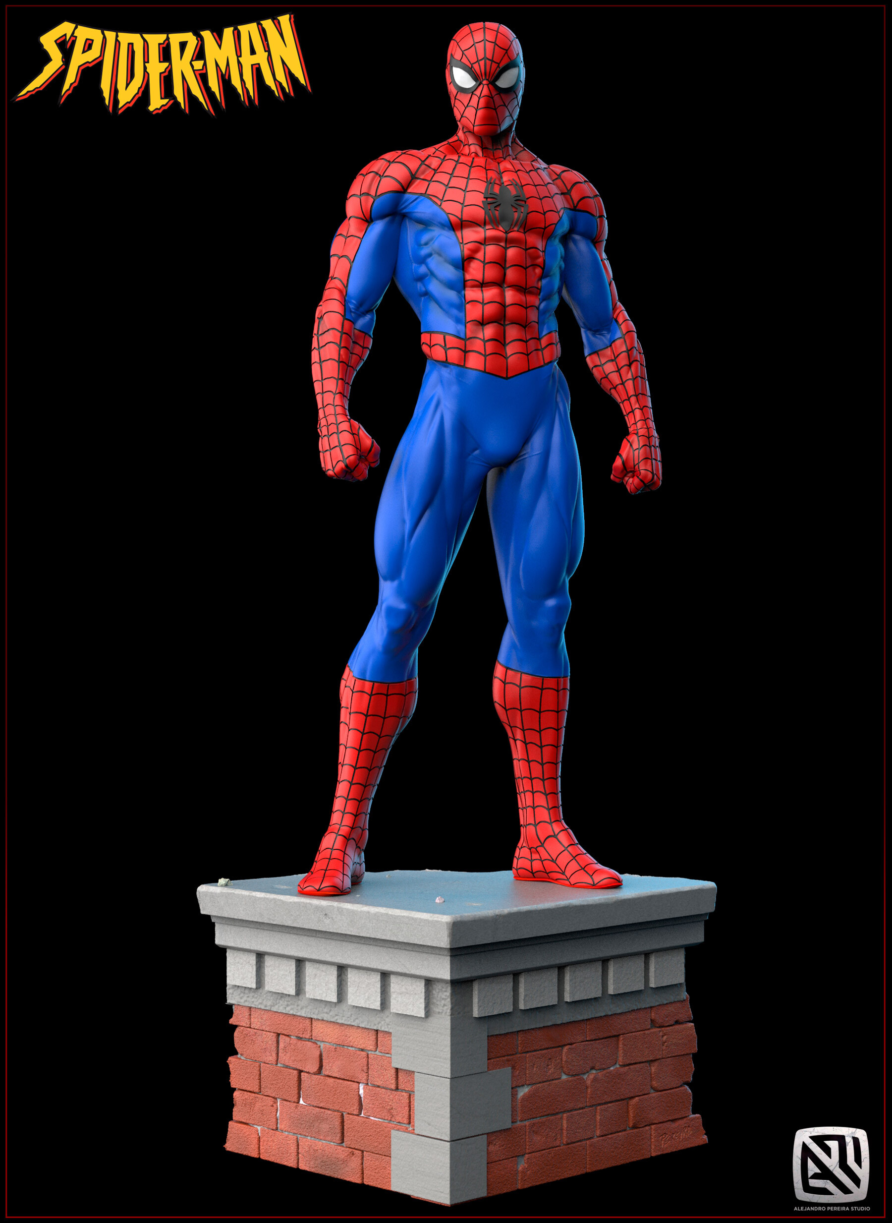 Alejandro pereira spidey render color 01
