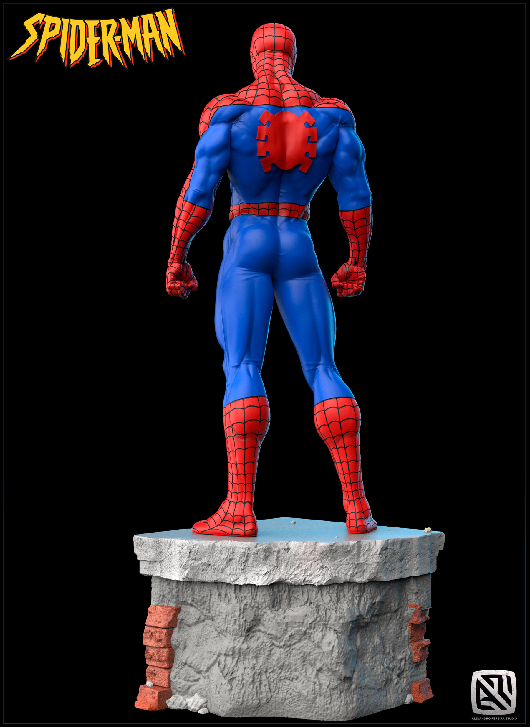 Alejandro pereira spidey render color 06