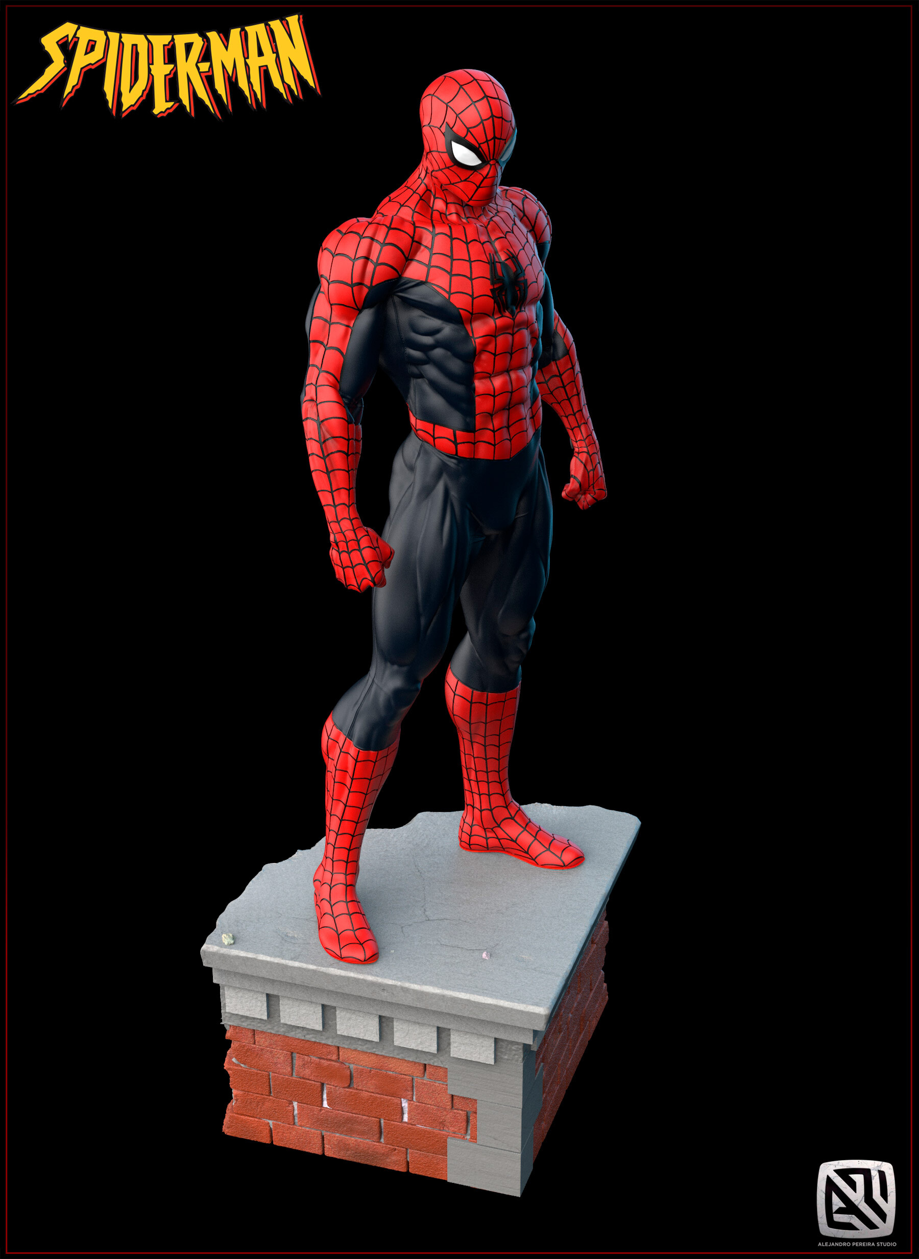 Alejandro pereira spidey render color 015