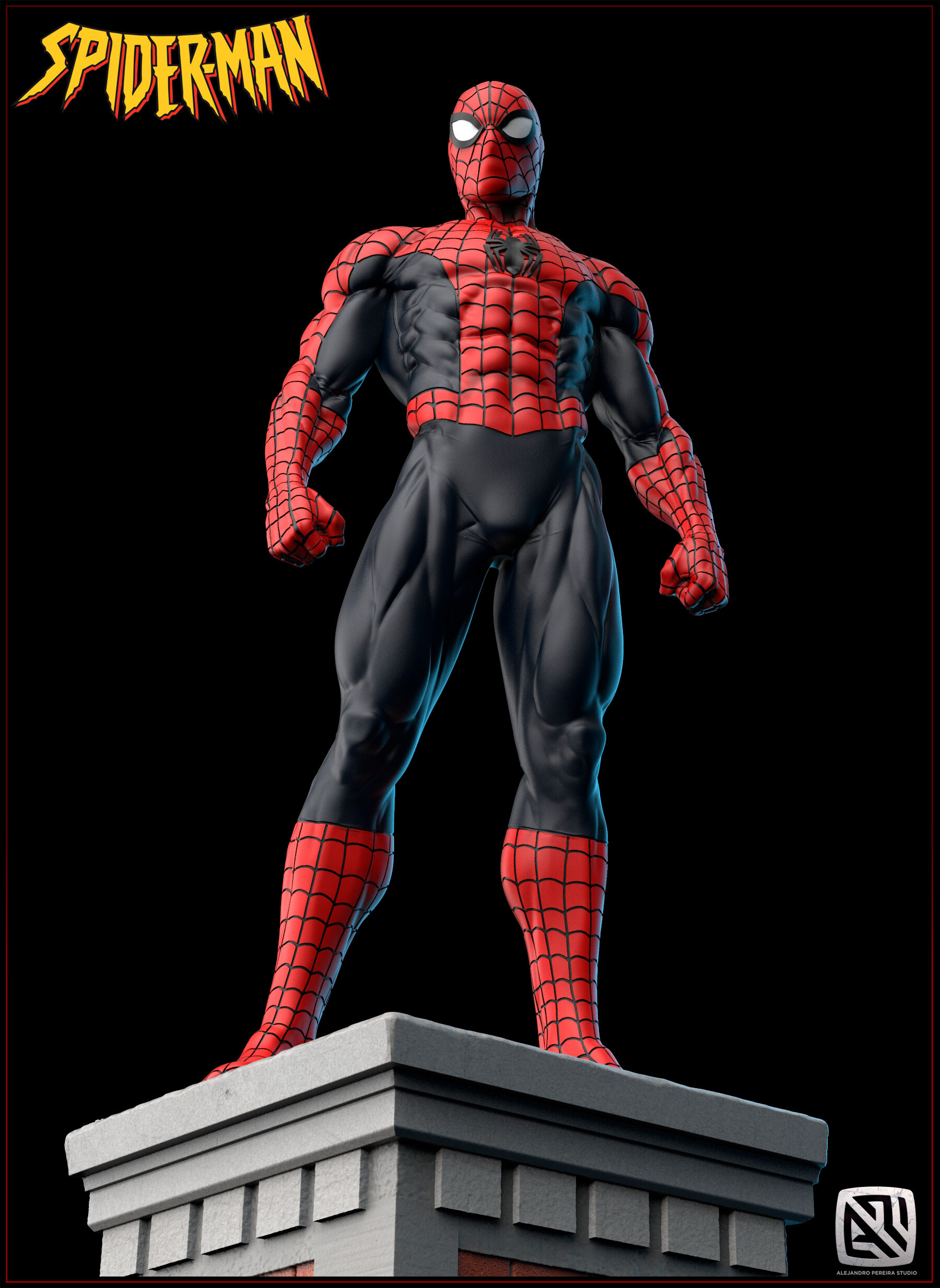 Alejandro pereira spidey render color 014