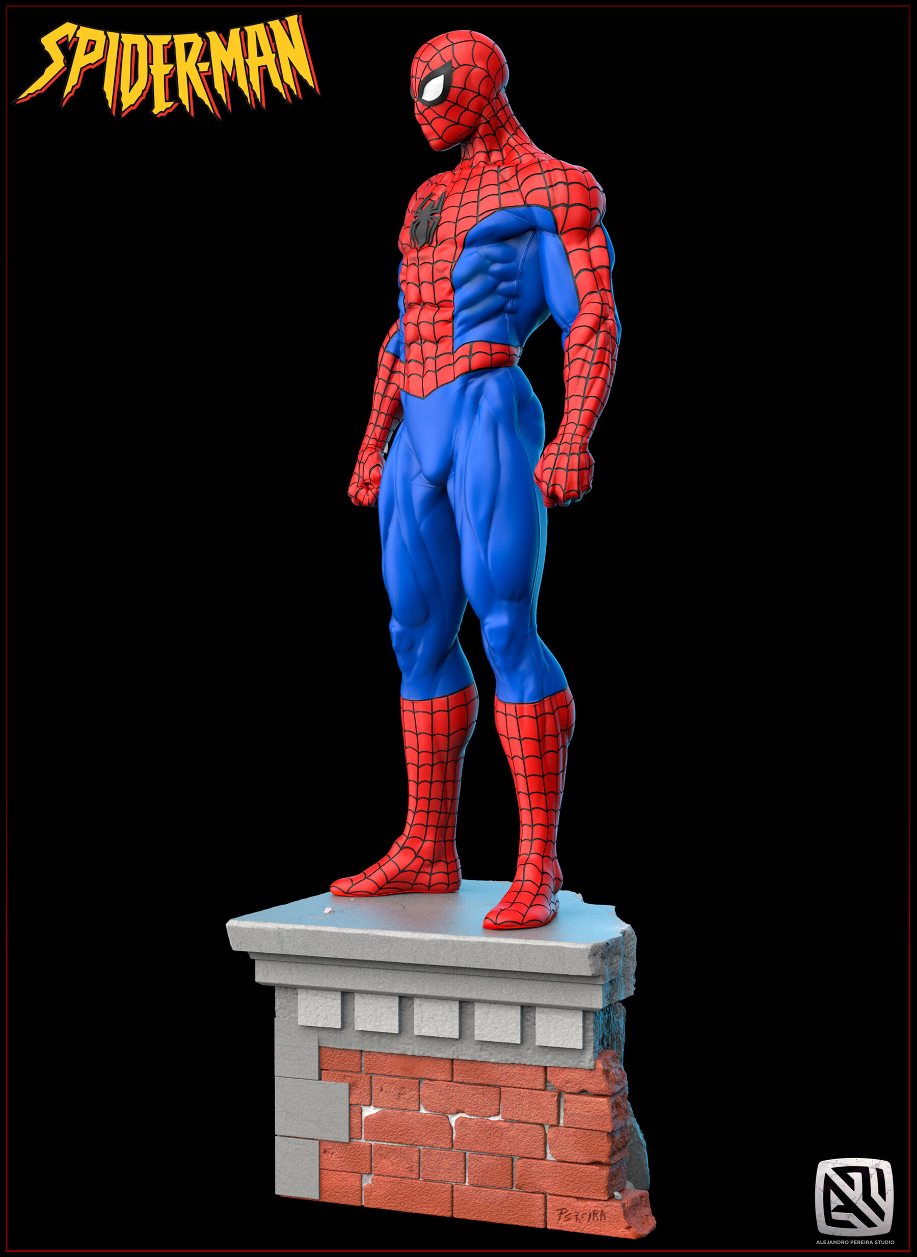 Alejandro pereira spidey render color 03
