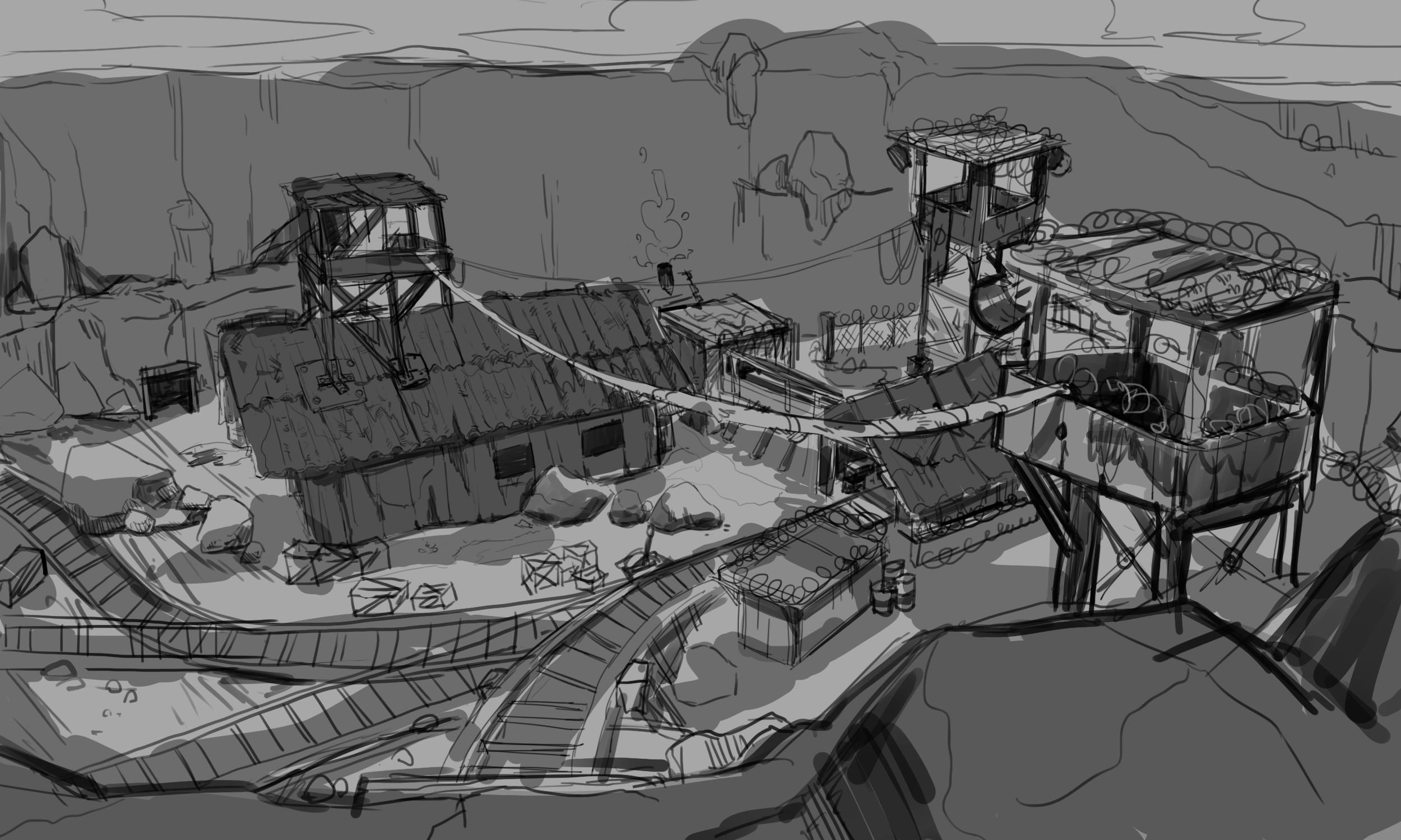 Rukh Mine level, early concepts