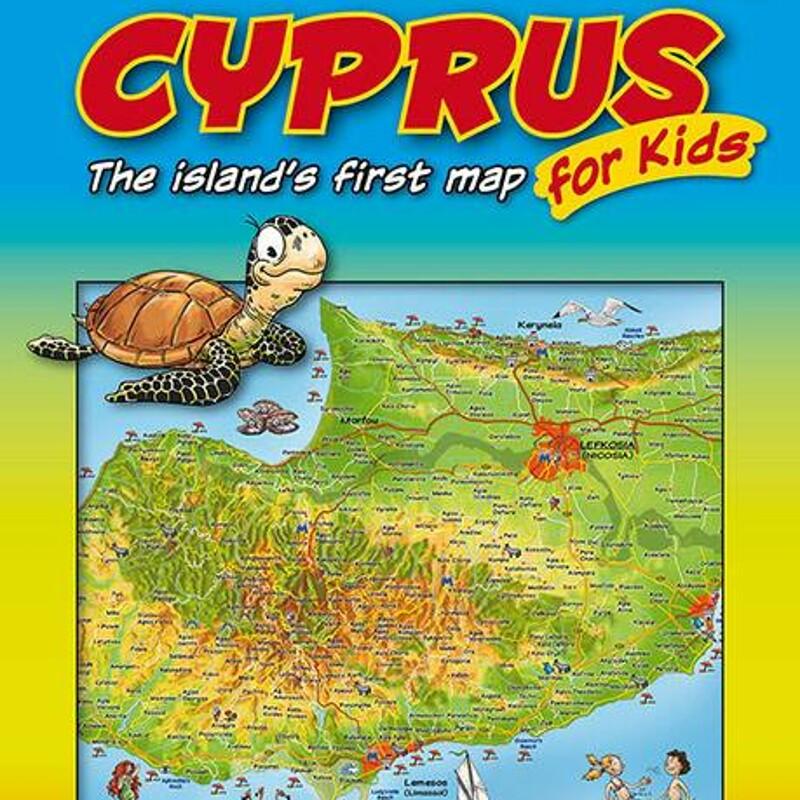 Cyprus map for children