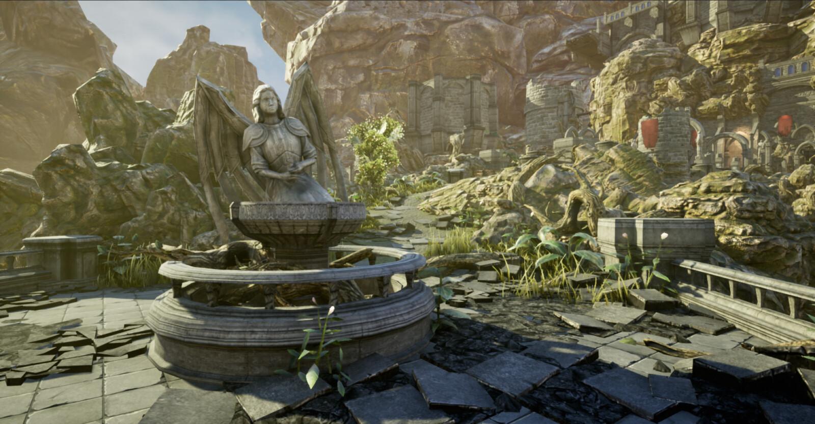 Angel Fountain - Day