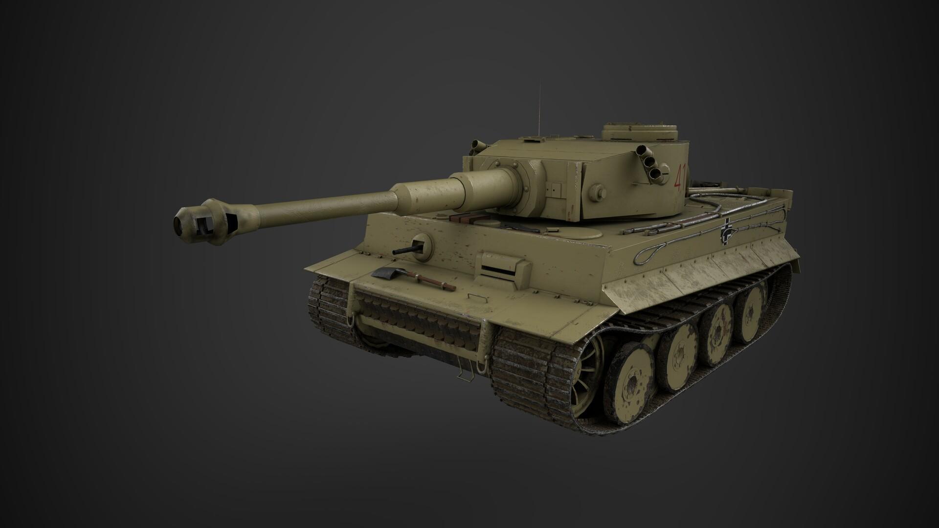 Artstation Panzerkampfwagen Tiger Ausf E Tiger 1
