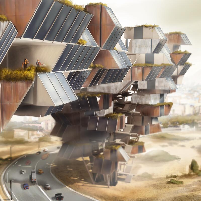 """""""Wäschespinne"""" housing concept"""