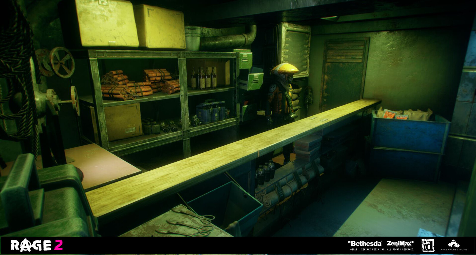 Gårilla Gear shop interior. Propping work.