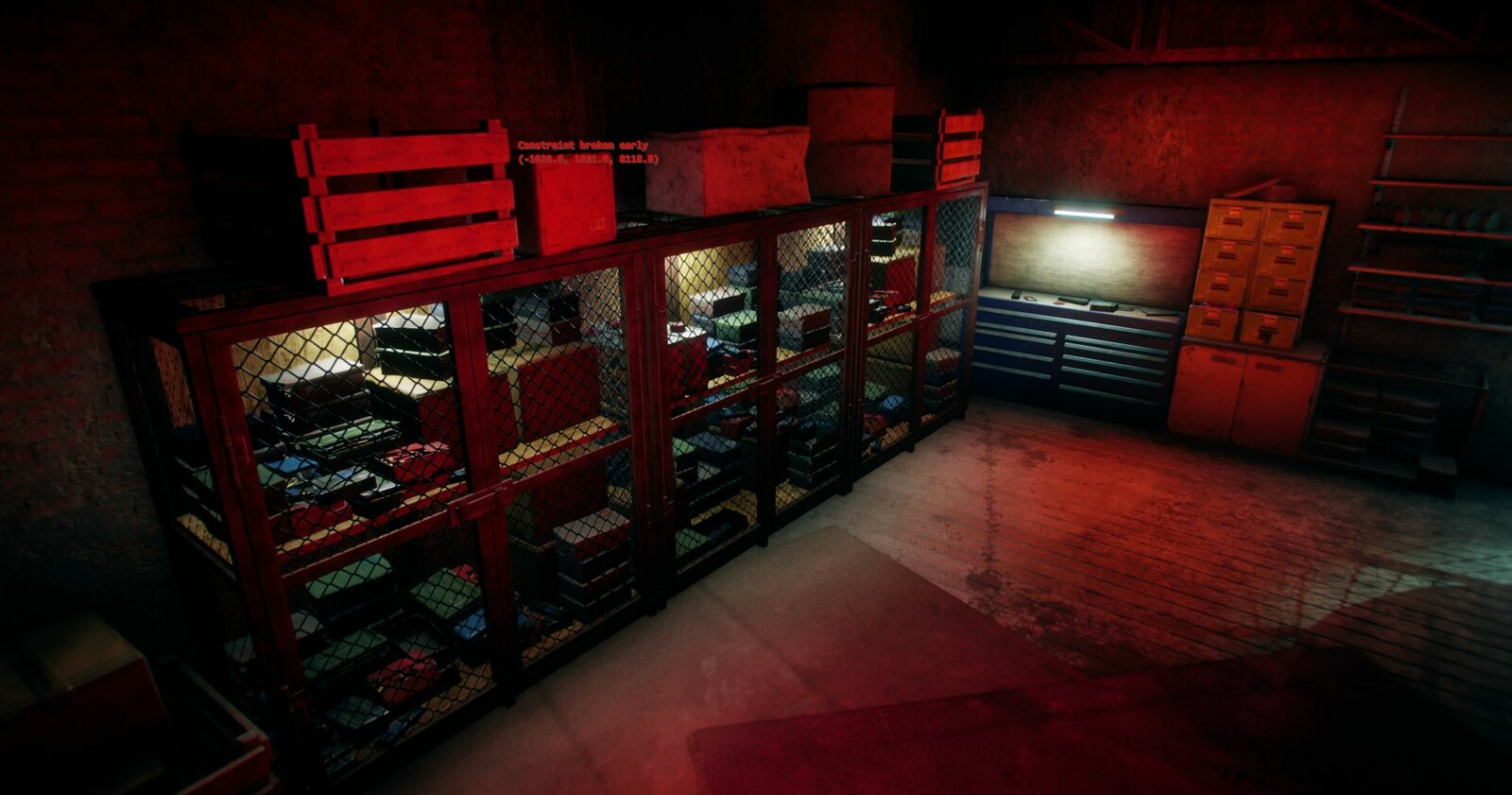 Bon Bon Boom! shop interior. Propping, modelling and texturing for the lockers done by me.