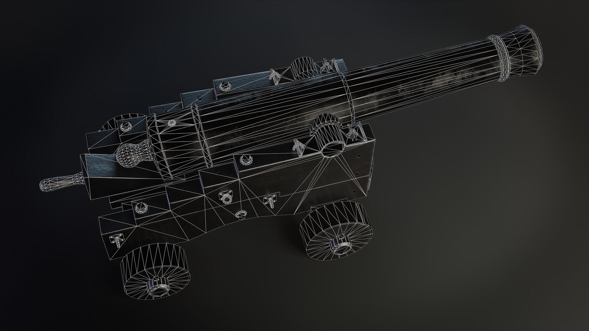 Pavel mazanik naval cannon render wire 01