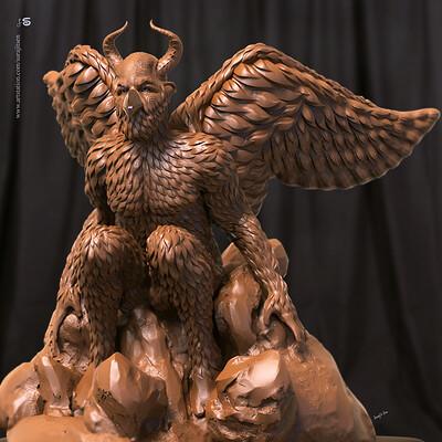 Surajit sen birdman v01 digital sculpture surajitsen aug2019