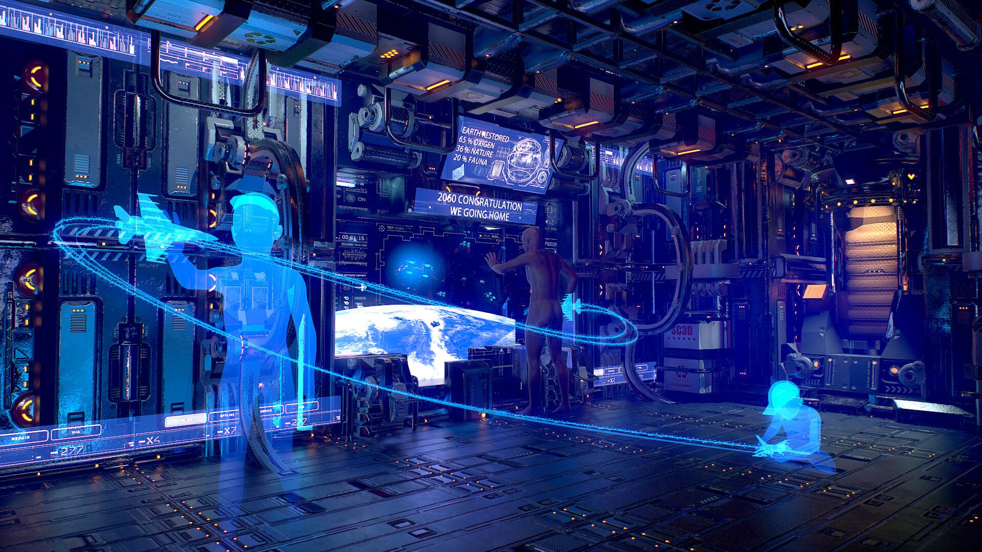 Sci -fi modular room  created for the Artstation challenge2k texture