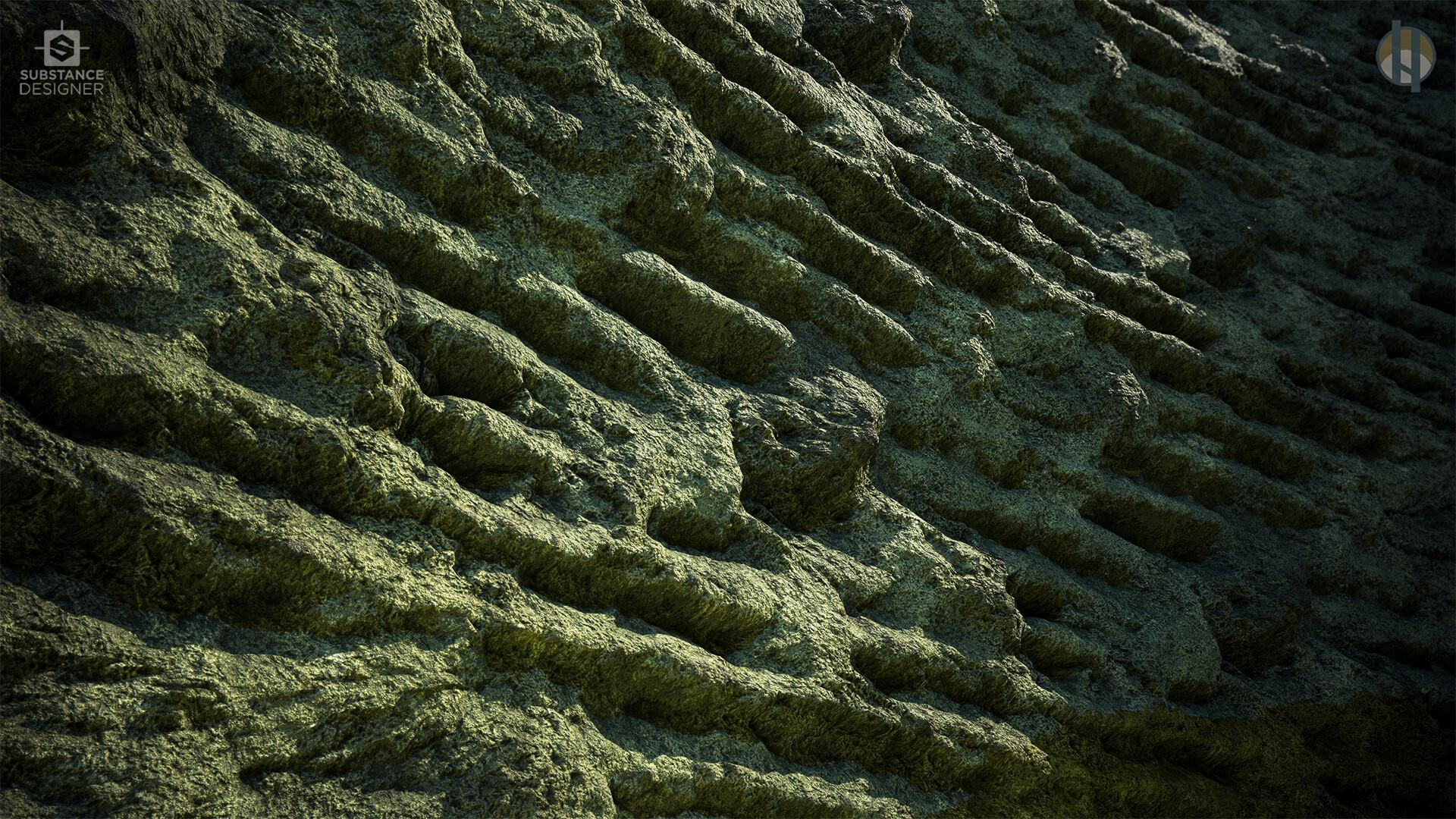 Justin hrala cave limestone layered wide